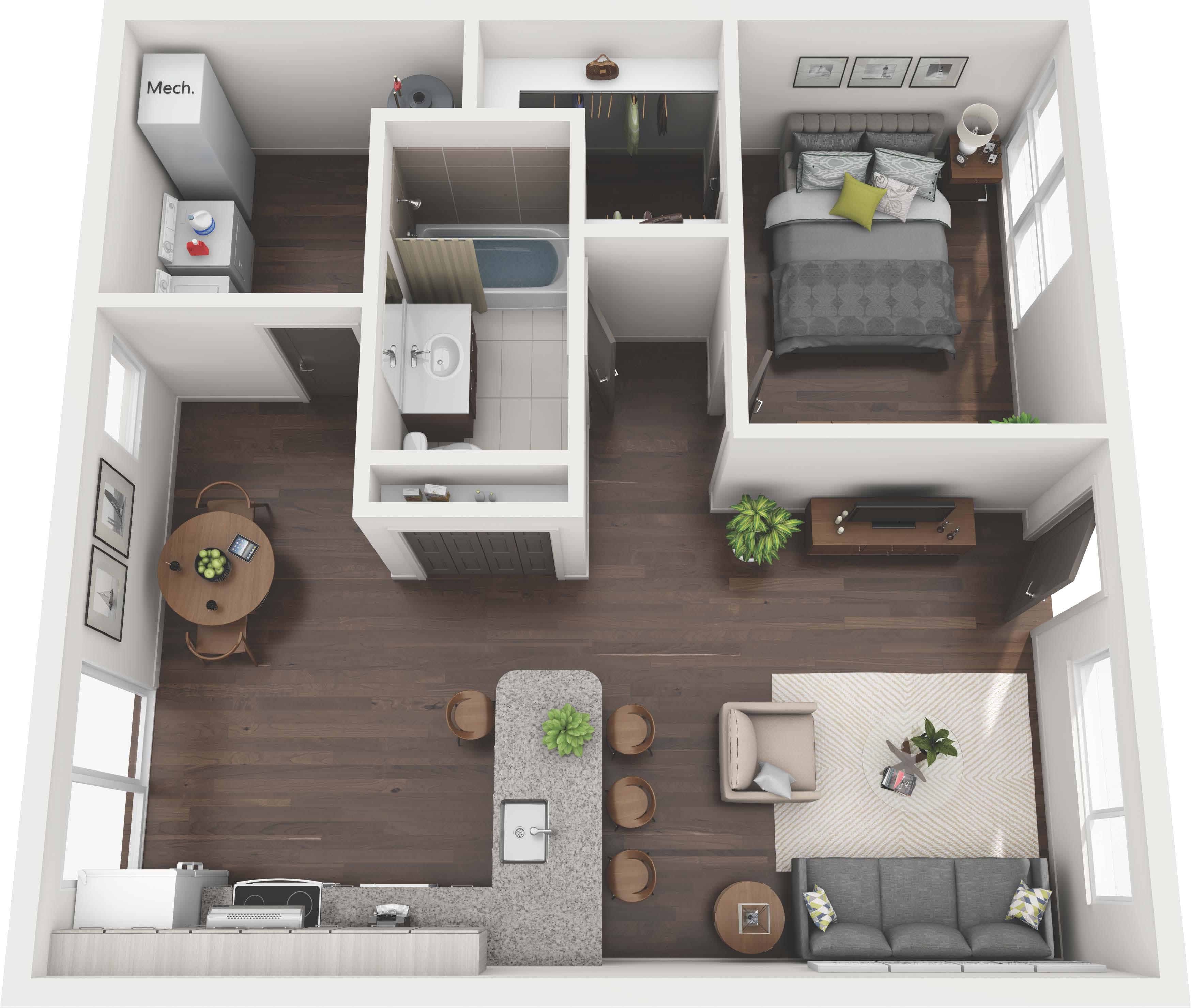 Ansley Forest Floor Plans Studio 1 2 3 Bedroom